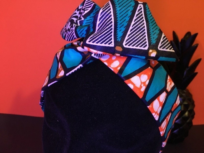 Bandeau bunny black pin-up foulard en wax positionnable par boutique ... 4d86180ae88