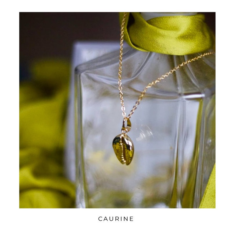 Caurine 24k Gold Cauri Necklace By Caurine Mid Long Necklaces