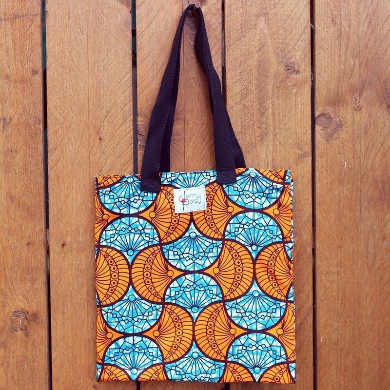 047018e42d Tote Bag Wax [Orange & Turquoise] by jenny-patsy - Tote bags and ...