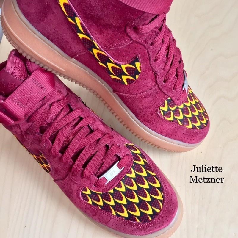 Baskets Bordeaux RougePour Force En ElleWaxCuir Wax One Daim Customisées Nike Air Serpent CBtQrdshx