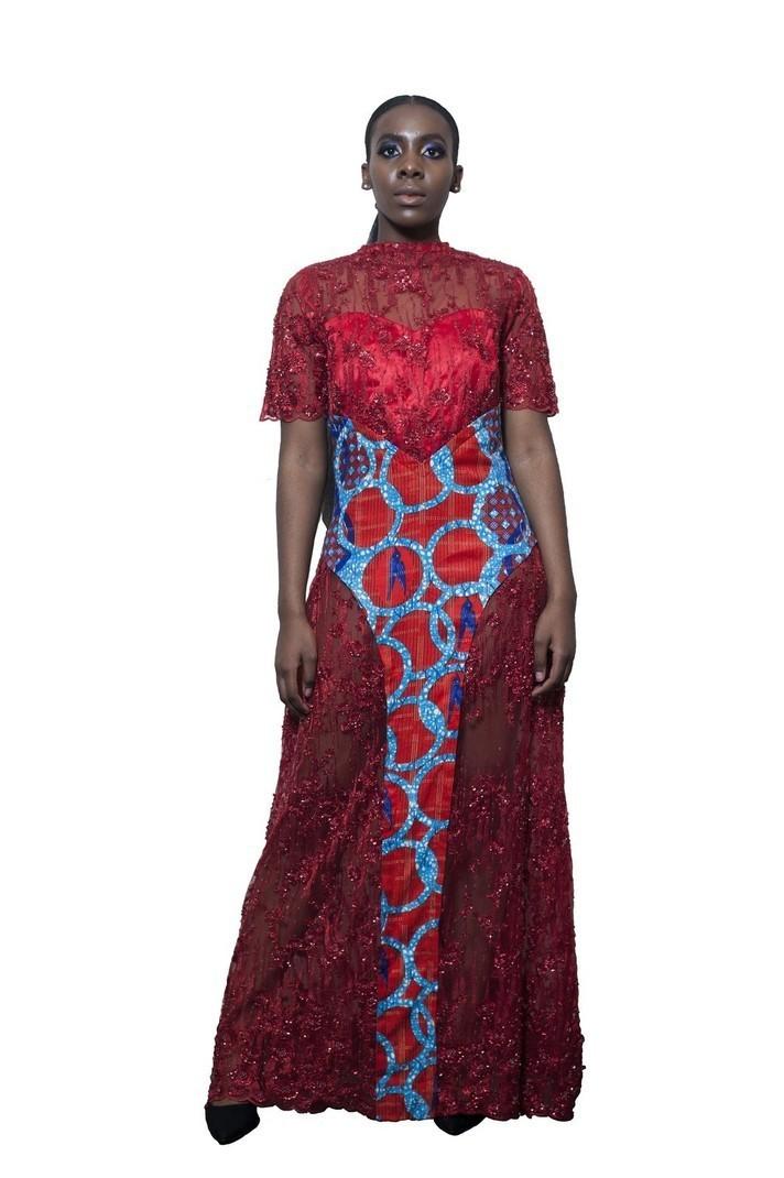 Modele robe wax et dentelle