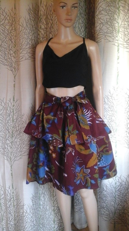 Bright Leopard Print  A-Line Skirt Sizes XS-3XL Flared Skirt