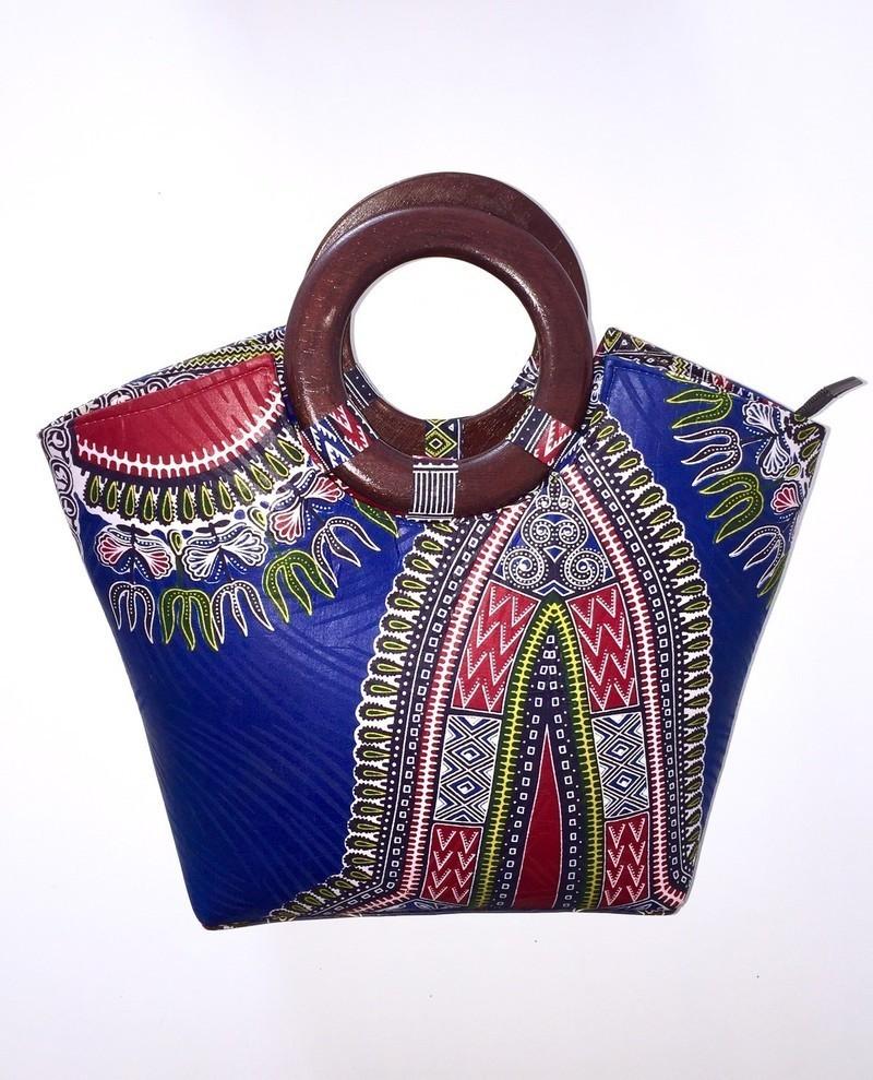 0a1f55aaa9 sac wax bleu marine poignée en bois laquée par kkorigin - Sacs à ...