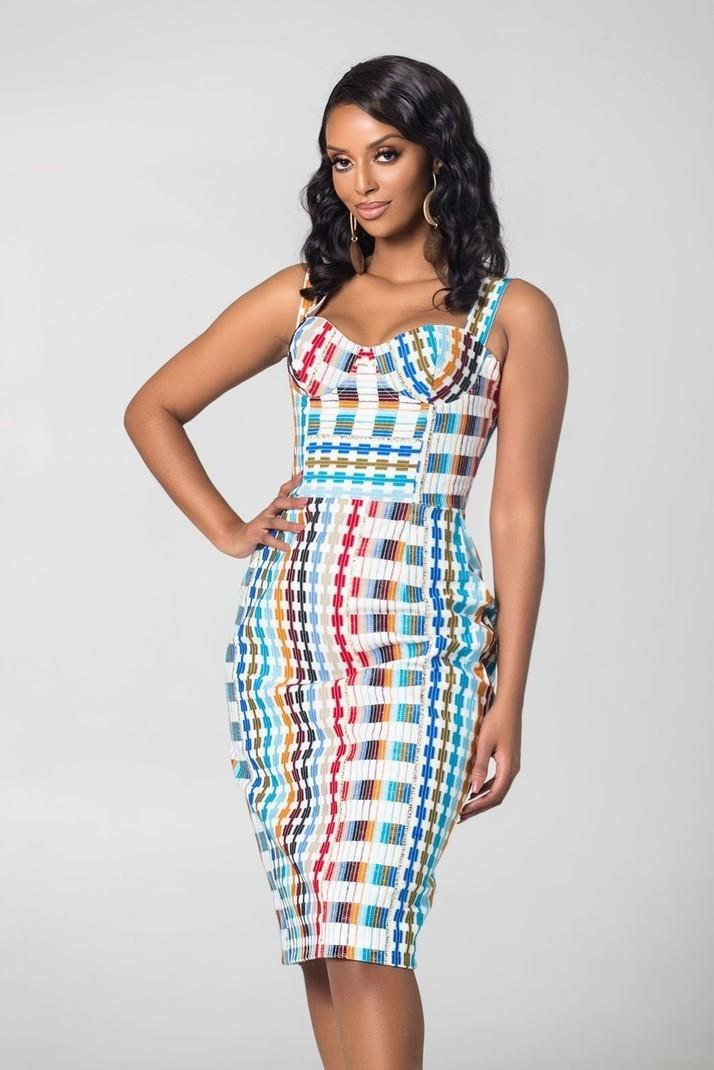 97e0b499023 Robe mi-longue imprimée africaine Eleonore par grass-fields - Robes ...