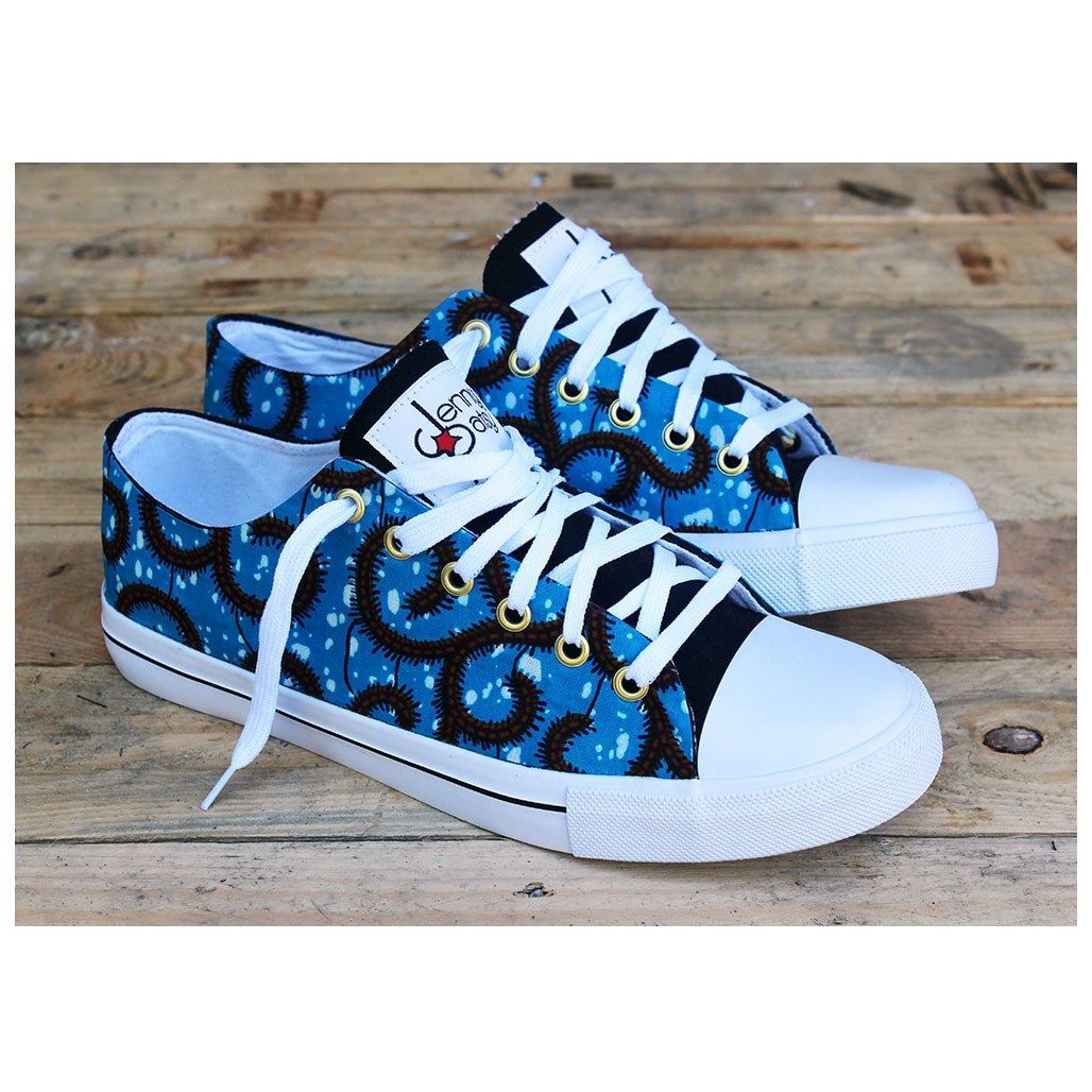Colas Sud Ouest Sa intérieur wax low sneakers for men [blue]jenny-patsy - sneakers - afrikrea
