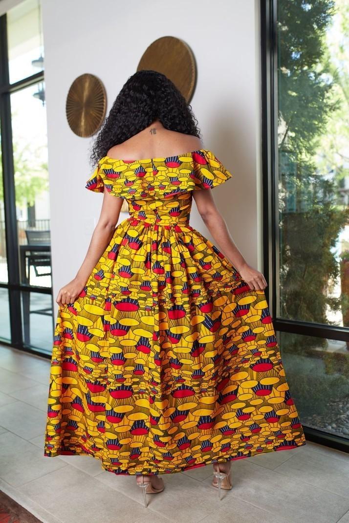 74dc0206652 Asante African print maxi Dress by nuraniya - Long dresses - Afrikrea