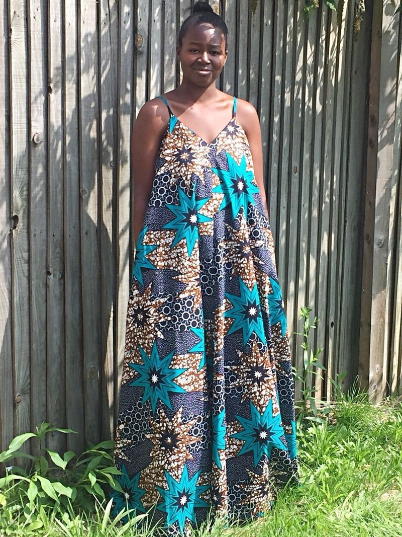 23e372b5996 African fabric maxi dress Ankara maxi dress African wax long dress ...