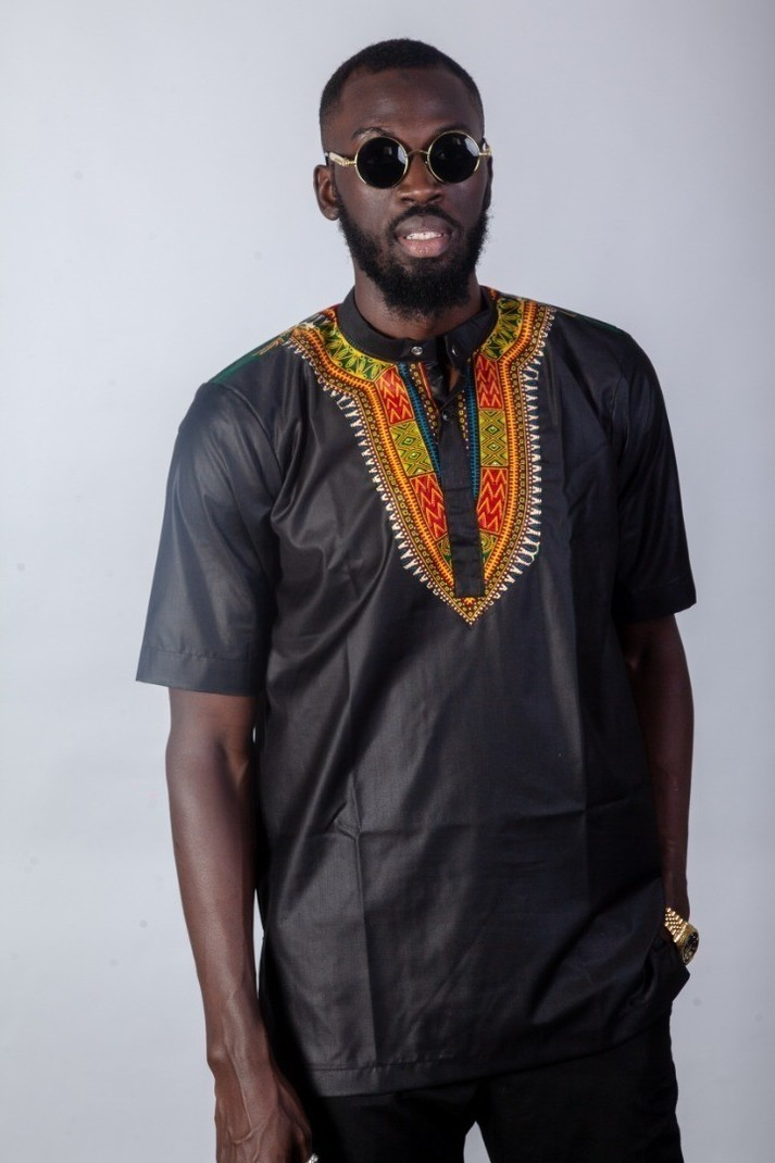 Shirt Col Mao Short Sleeve Black By Articles Addis Abeba