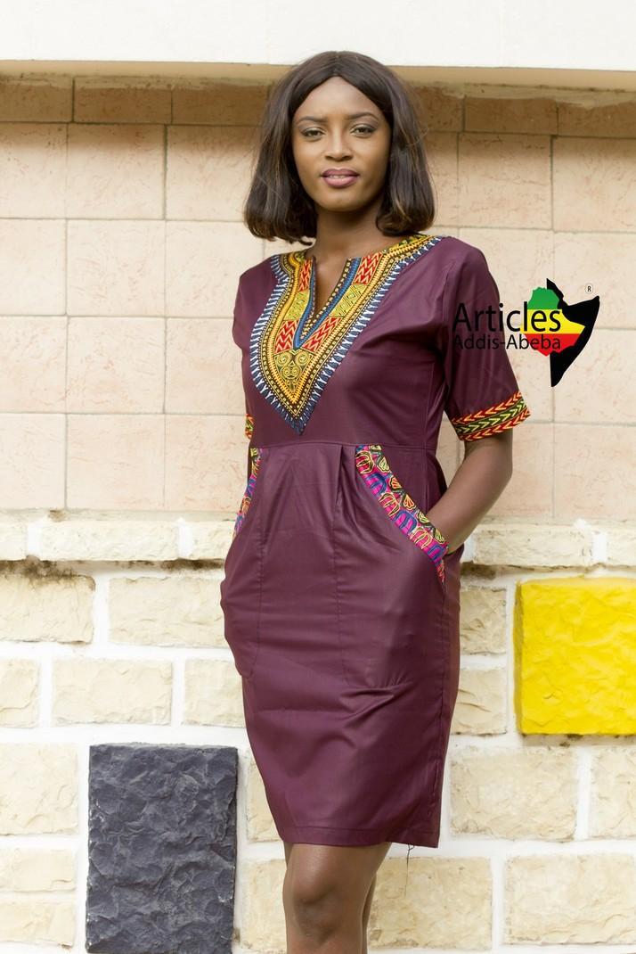 Mini Robe FATOU Marron Addis-Abeba par articles-addis-abeba - Robes ... ac4594312118
