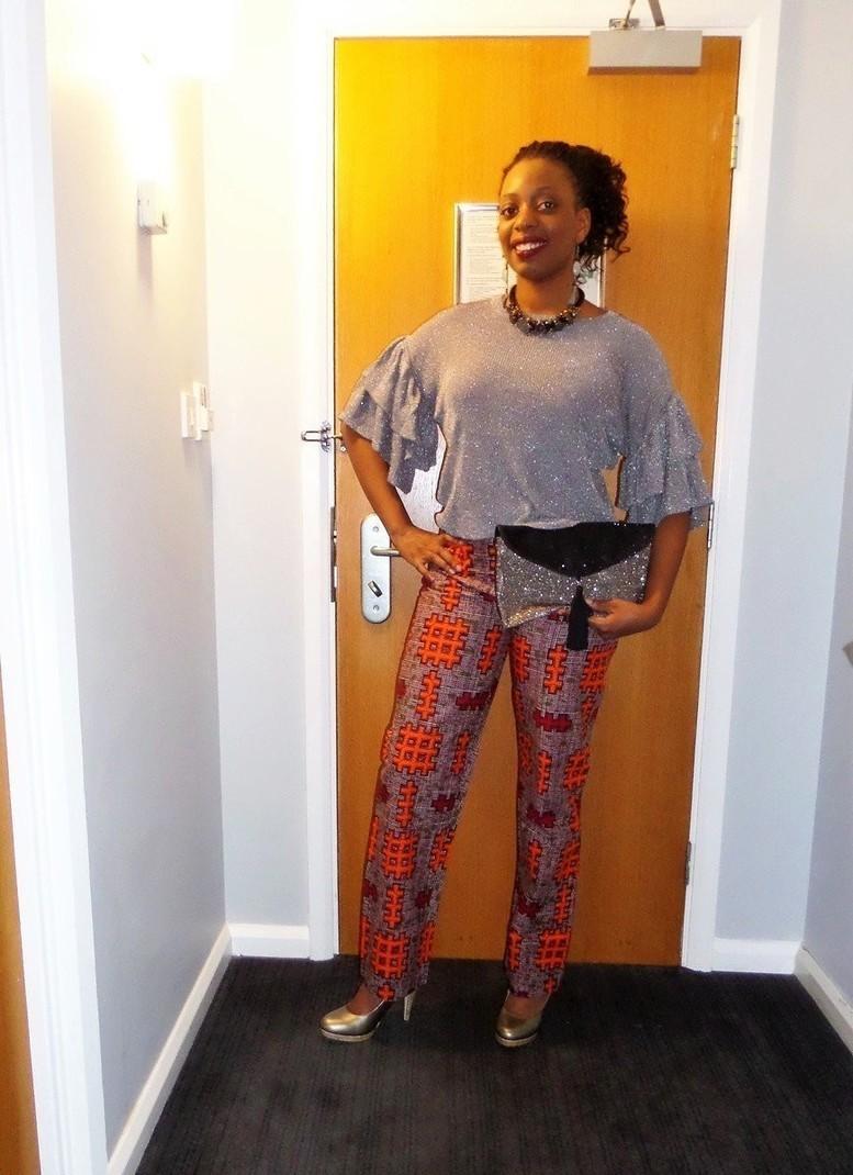 Pantalon coupe droite et taille haute en wax pagne - Pantalon femme taille haute coupe droite ...