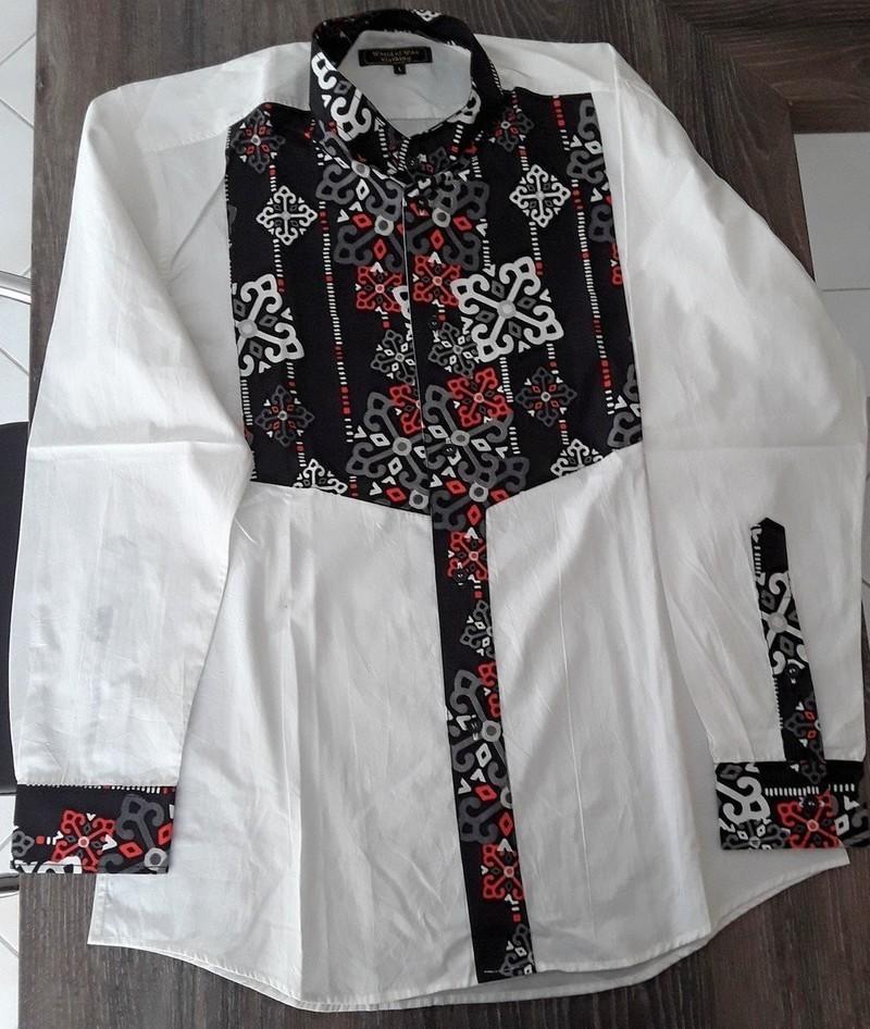 Shirt Man Custom Collar With Wax Fabric By Worldofwaxclothing