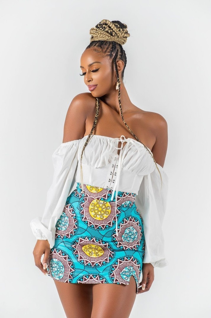 30af5b83b06b4f Mini jupe africaine imprimée Leela - Jupes Courtes et mini-jupes jupes  crayon, multicolore, grande taille et formes, tall, look intégral wax, wax,  ...