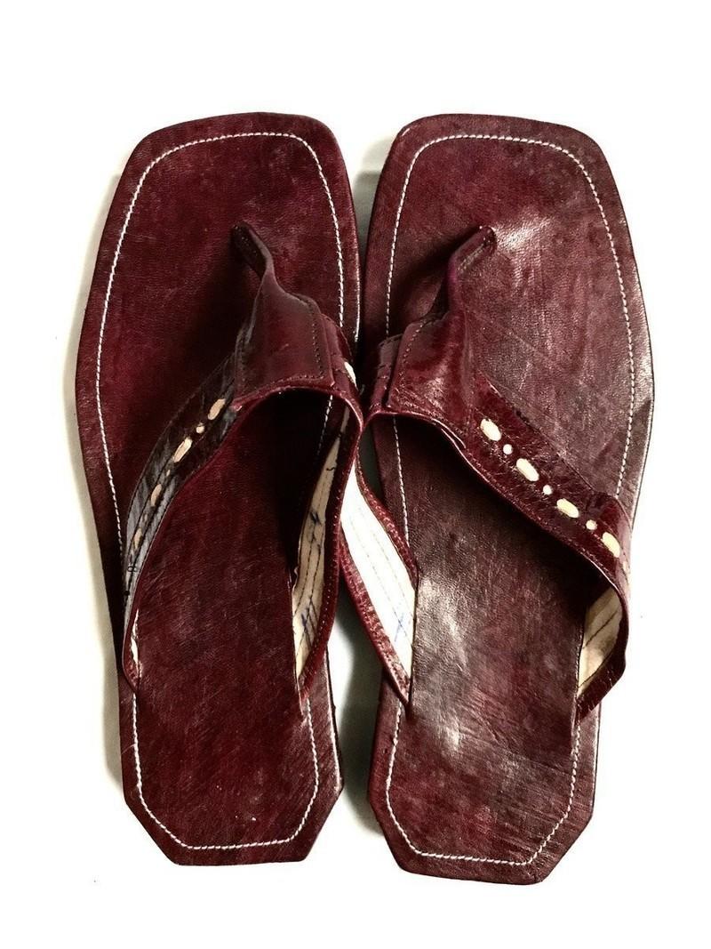 Sandales Tongs Africaines Par Cuir Farafin Sandales En FaqwOZ