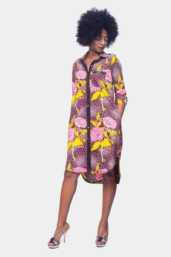 528c7e8720aa7 African Print dress,Ankara dress, Shirt Dress,Kitenge dress,African Womens  Clothing,Womens Clothing