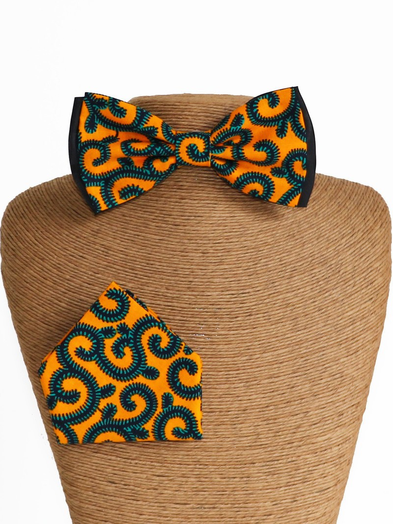 qualité supérieure charme de coût super qualité Noeud classic & mouchoir, Wax conseillé jaune, Noeud papillon wax, Tissu  africain - Noeud Papillon jaune, , casual, avec une touche de wax, wax,  pour ...