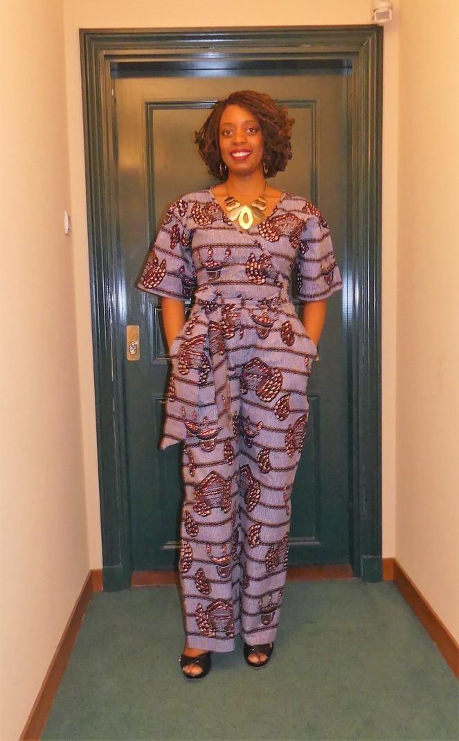 Salopettes Combi WaxPagne Pantalon GrisAucunLook AfricainCombinaisonsamp; Courtes ElleLes WaxPour En Beaux Manches Intégral WI9EHeD2Y