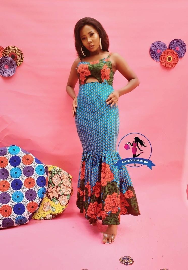 African print party dress,african evening dresses,Ankara clothing,Ankara  dress,African maxi dress - Long dresses maxi dresses, blue, petite, plus  size ...