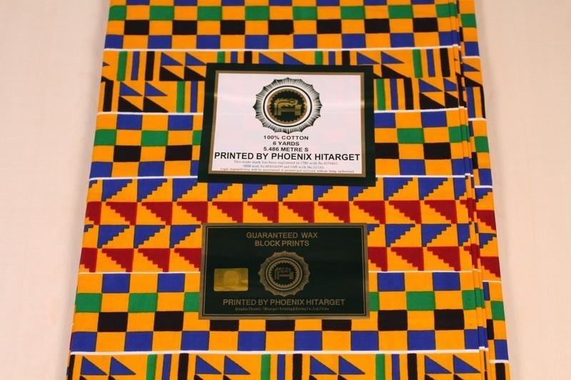 African Wax Print KENTE fabric 1925007G Ankara ghana cloth fabrics 2 Yards+