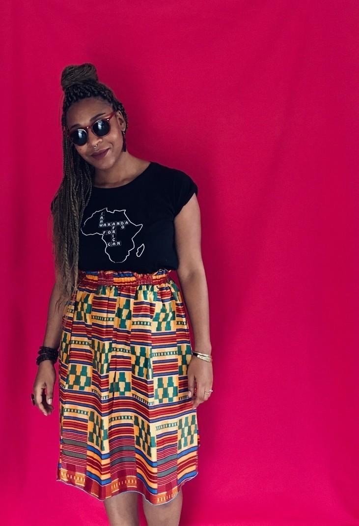 ea8e3196ef18e Kentate skirt - Short skirts and mini skirts beach skirts, orange, none,  all ankara, streetwear, kente, for her, cotton, the beautiful days, workwear