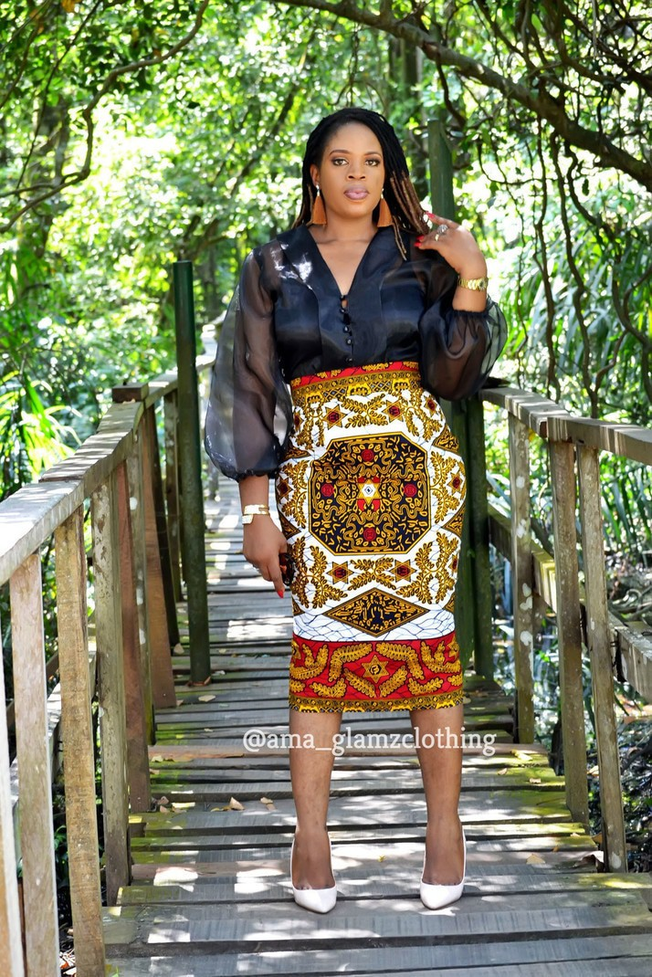 49e4ee1141 Ireti African Print Midi Pencil Skirt by glamzbyama - Mid-length ...