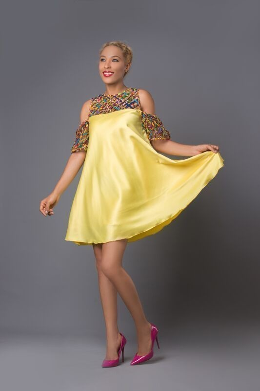 0962f5ea4691c Hand-Made Ankara Mesh Dress by m-and-k-wear - Mid-length Dresses ...