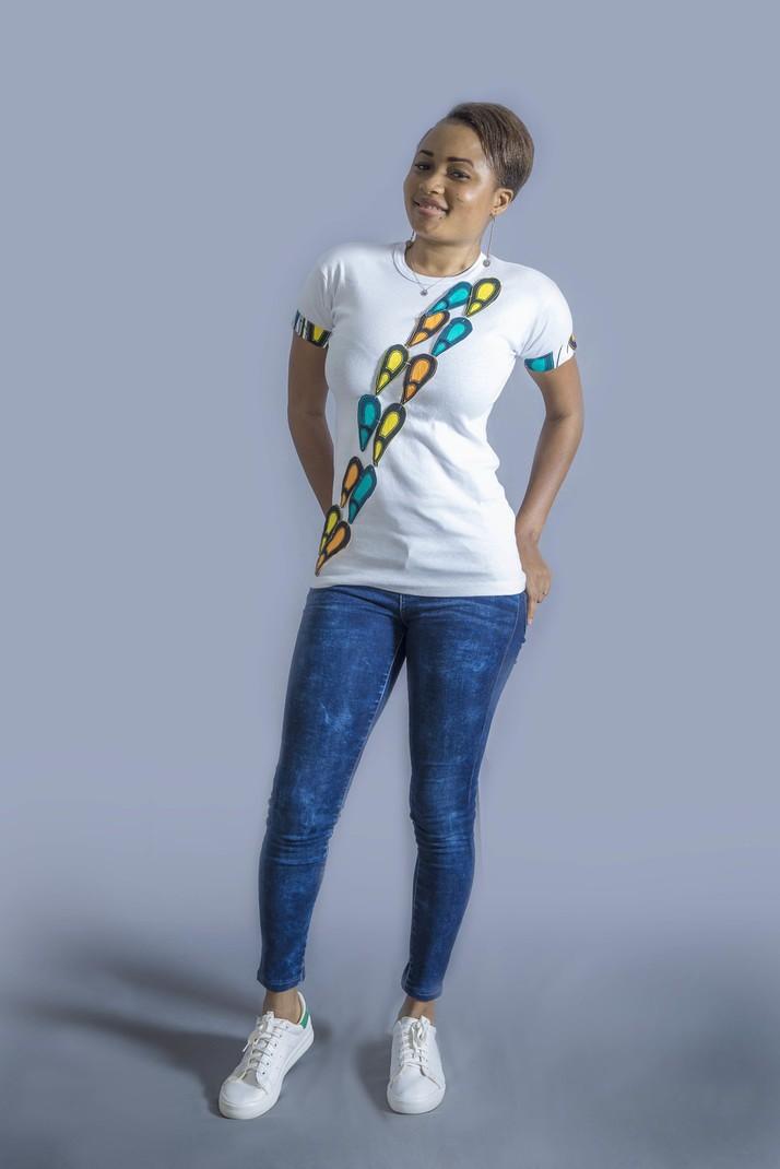 I love coeur Ouzbékistan Mesdames t-shirt