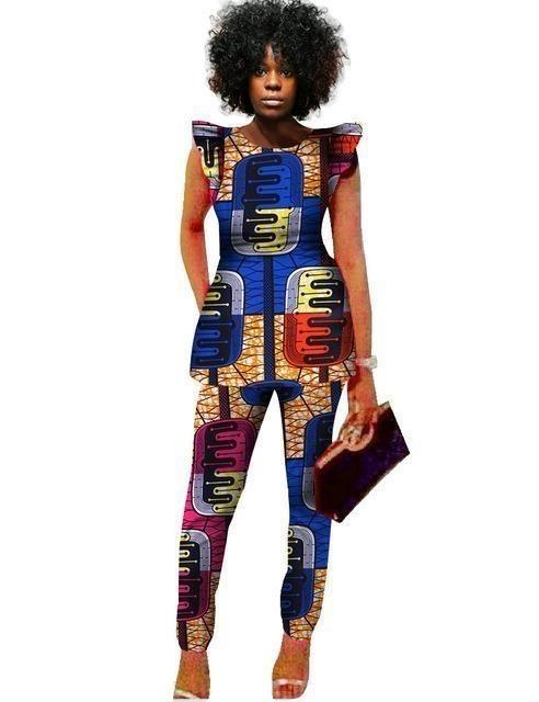Haut Femmes Pièce Pantalon Africaine Dashiki et 2 Imprimer ensembles w7SqggxR