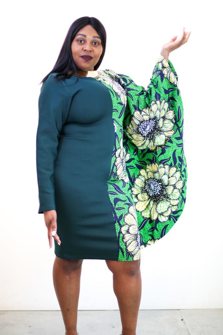 Omoge Dress Agrémentée Ankara Imprimer Shift Africaine Nouveau Dans Fz5wpp