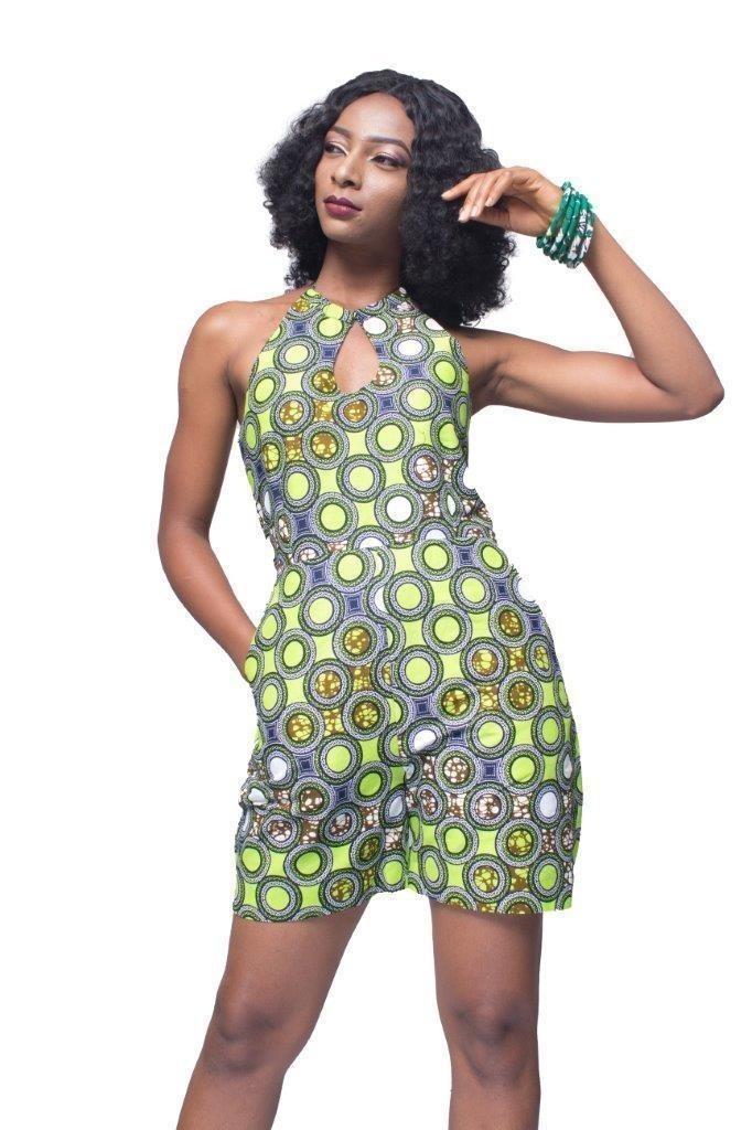 Imprimé FemmeVêtements Nu FemmeDos Combi Salopettes Short AfricainAnkaraCombinaison Combinaisonsamp; VertTall 0OPN8knXw