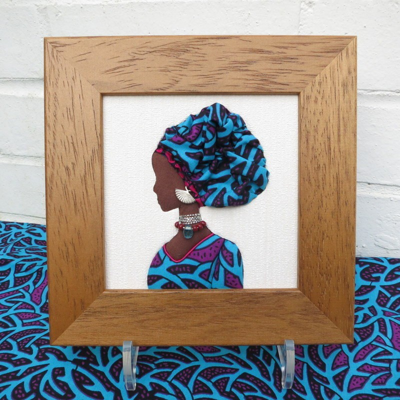 African fabric Miniature Portrait by agnescreations - Frames - Afrikrea