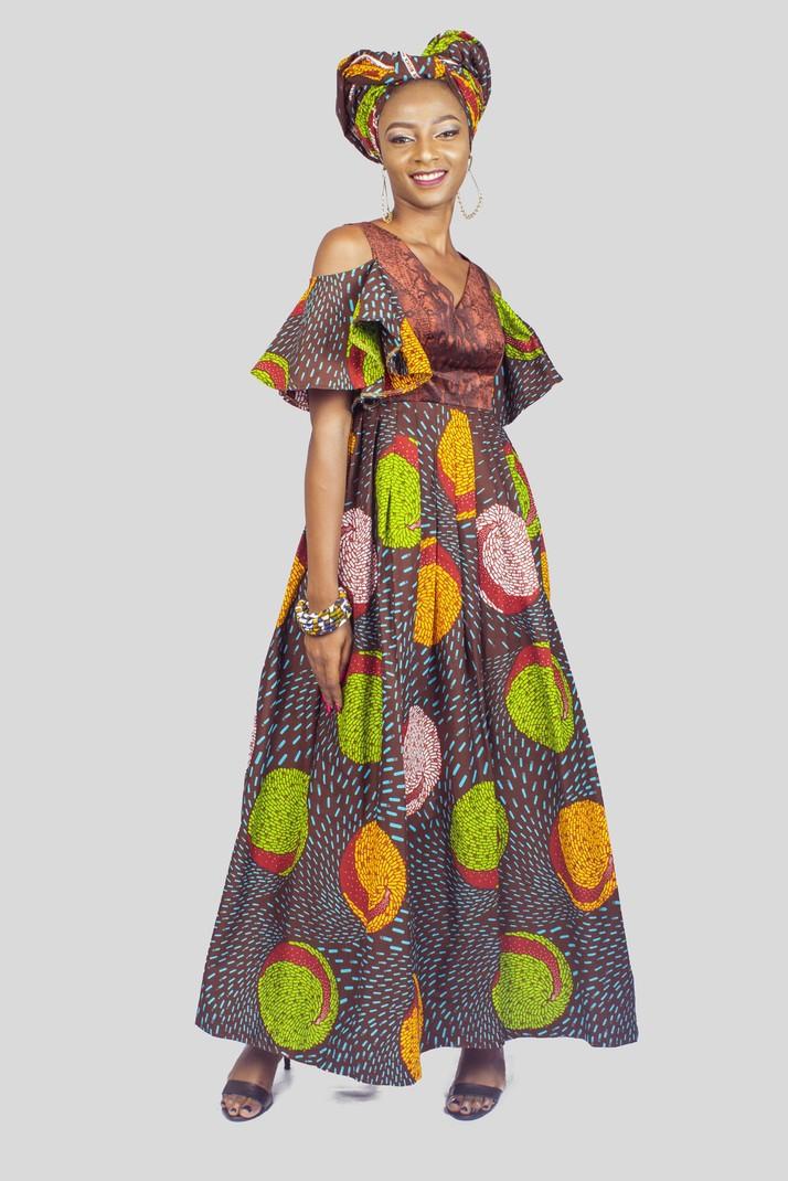 ceeba2f76cc Ankara Cold Shoulder Dress, African Print Dress, African Clothing ...