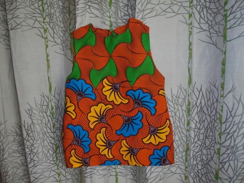 Robe Tunique En Wax Fleurs De Mariage Tailles 2ans Par Vitacris