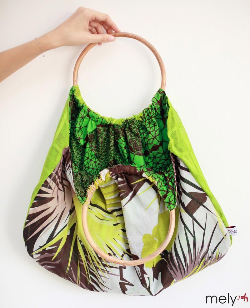 845b9bc41c9 Tote Bag rattan handles GREEN by melyjah - Purses - Afrikrea