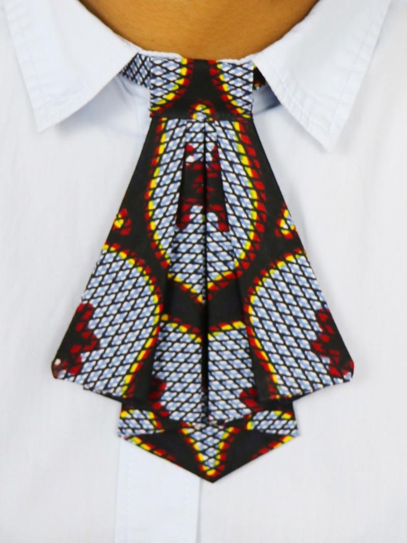 284760de482df Crawax, Wax Congrès gris, Cravate pour femme, Cousu main, Tissu ...