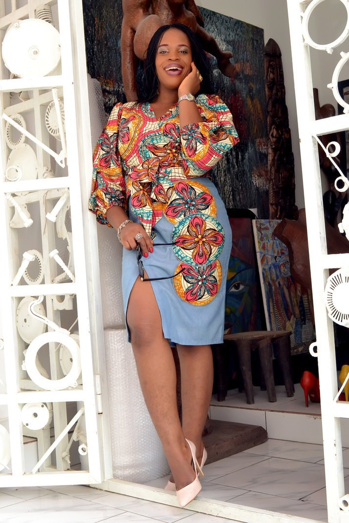 42e4b8c93f GlamzByAma African Print Wrap Top X High Slit Pencil Skirt by ...