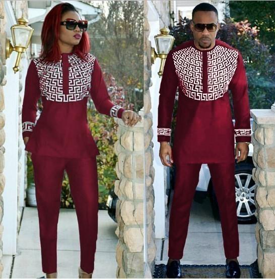 f94ff2f903f0 Ensemble de vêtements africains brodés pour hommes et femmes bazin ...