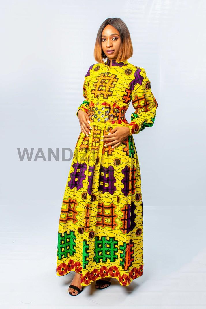 Ankara Maxi Dress multicolore c803affdd29