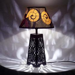 Lampe Abat Tissu Fleurs Chevet Jour Roses Lampes Céramique RoseArgileWax Africain dBexrCoW